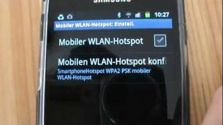 Samsung Galaxy S2 als W-Lan Hotspot für Notebook verwenden