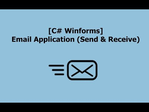 [C# Winforms] Email Application (Send & Receive)