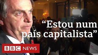 Bolsonaro fala na China sobre privatização de estatais, guerra comercial e Amazônia