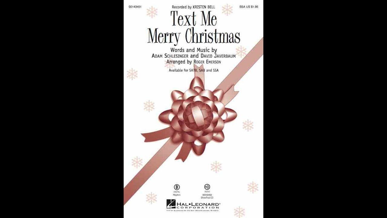 Text Me Merry Christmas.Text Me Merry Christmas Ssa Choir Arranged By Roger Emerson