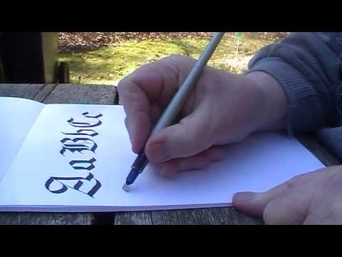 Calligraphy (Old English) - Gothic Part 1 by Yirdy Machar