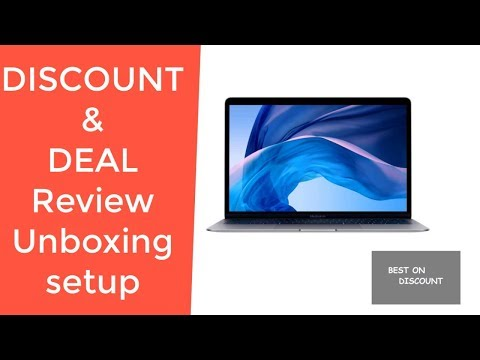 Apple MacBook Air 13 Space Gray Latest Model REVIEW DEAL DISCOUNT SALE UNBOXING SETUP