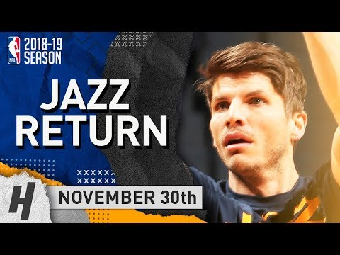Kyle Korver JAZZ RETURN Full Highlights vs Hornets 2018.11.30 - 14 Pts, 2 Reb, WELCOME BACK!!