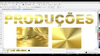 Como Criar grandiete folheado a ouro no CorelDraw X7 e X6