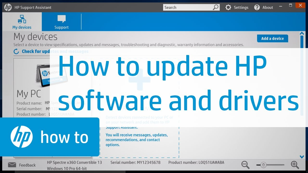 Updating HP Software and Drivers | HP Support | HP - YouTube