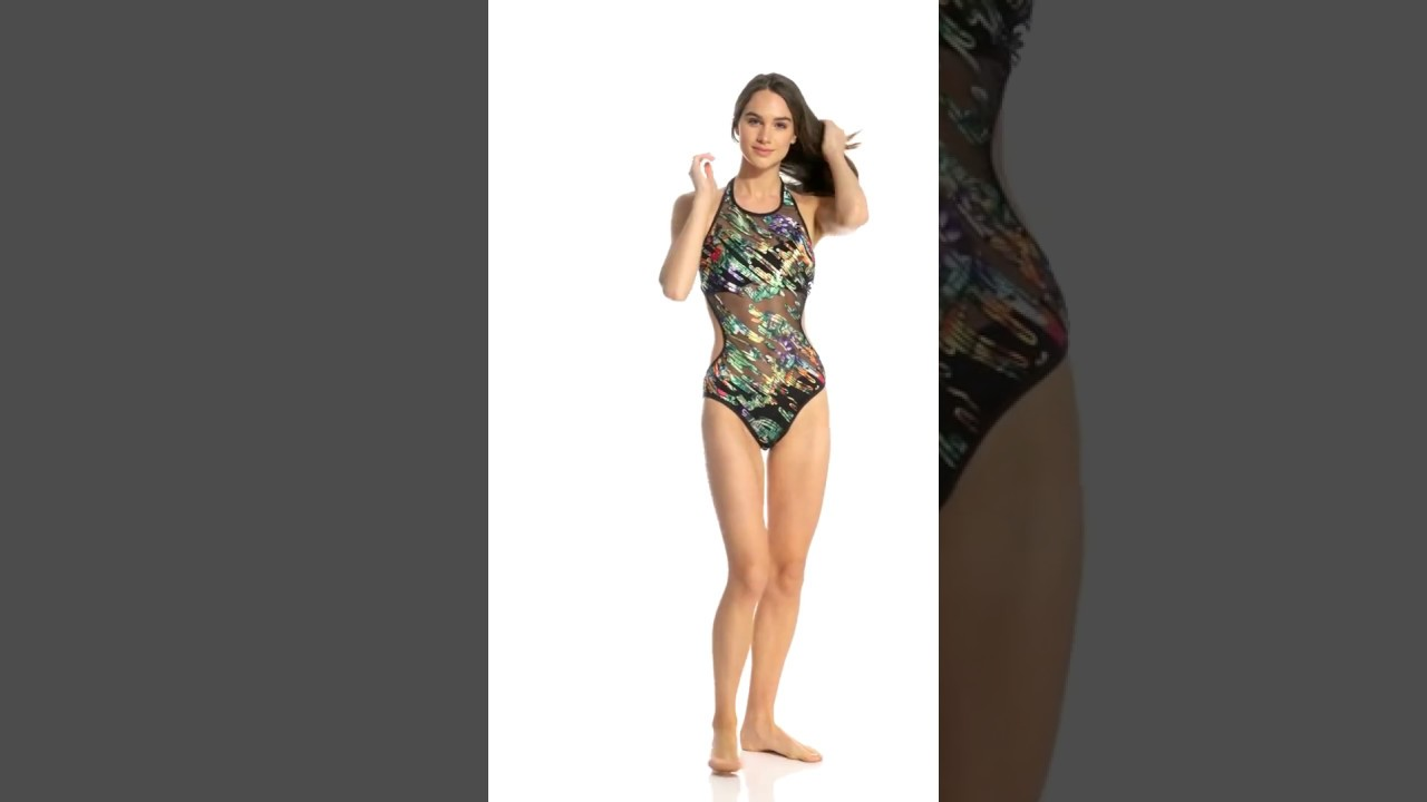 acf13f0cfea Kenneth Cole After the Sun-Sets High Neck Monokini One Piece Swimsuit |  SwimOutlet.com