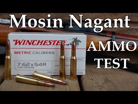 762 x 54R Mosin Nagant Winchester 180 gr Soft Point Ammo Review