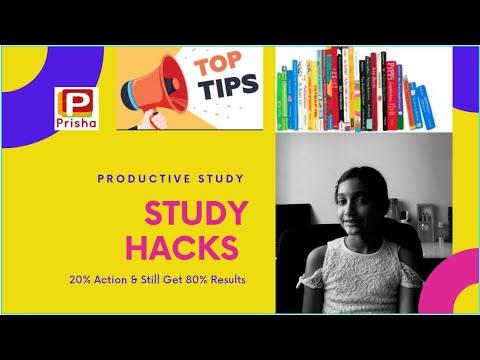 20 Study Hacks   Productive Study   Study Tips to get A Grade