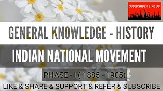 #HISTORY - GENERAL KNOWLEDGE - #INDIAN NATIONAL MOVEMENT - TNPSC/TET/TRB