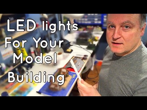 How to put your own LED lights in your model buildings