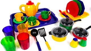 Making Tea with Tea Pot and Dish Playset for Kids | Yippee Toys Video