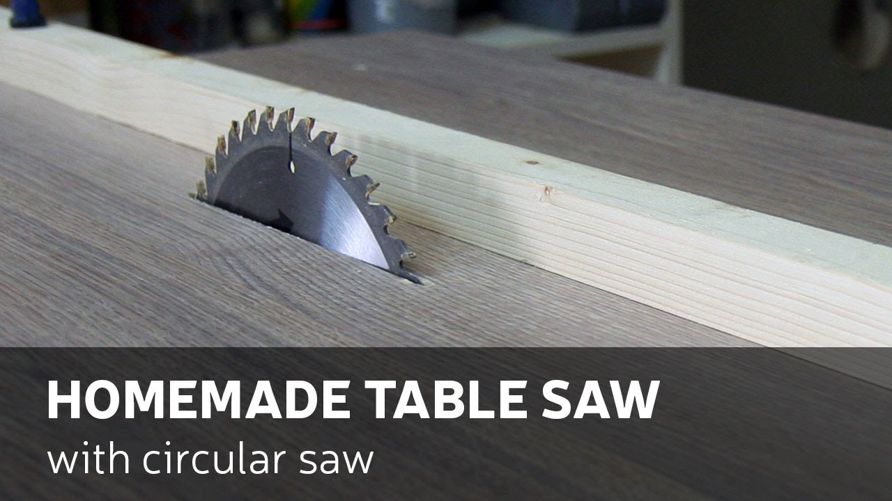 how to make a homemade table saw with circular saw [ 1280 x 720 Pixel ]