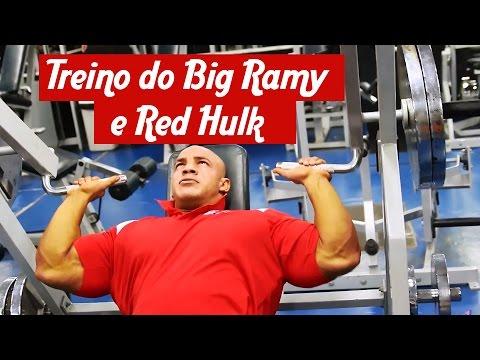 Treino do Big Ramy e Red Hulk