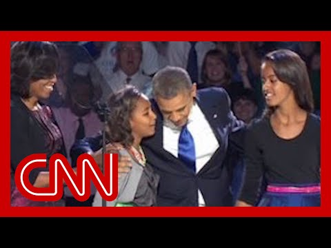 "Sasha Obama reminds dad ""Behind you!"""