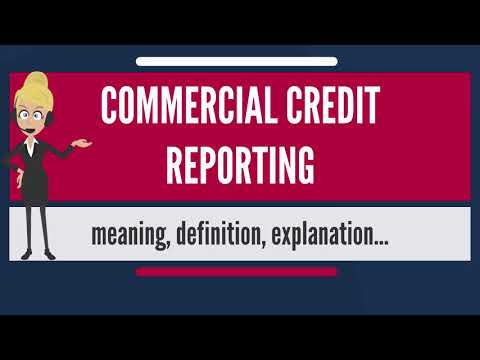 What is COMMERCIAL CREDIT REPORTING? What does COMMERCIAL CREDIT REPORTING mean?