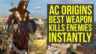 Assassin's Creed Origins Tips BEST WEAPON FOR INSANE DAMAGE (AC Origins Tips and Tricks)