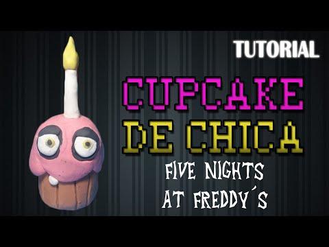 Tutorial Cupcake de Chica en Plastilina / FNaF / How to make The Chica´s Cupcake with Plasticine