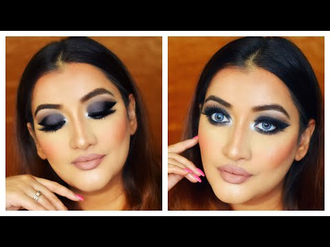 Full coverage glam makeup tutorial | Get Ready with me dark smokey eyes thumbnail