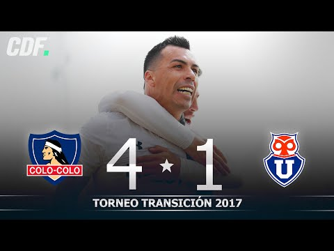 Colo Colo 4 - 1 U. de Chile  | Torneo Scotiabank Transición 2017 (Apertura) Quinta Fecha | CDF