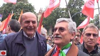 D'Alema e Bersani al corteo del 25 Aprile a Milano