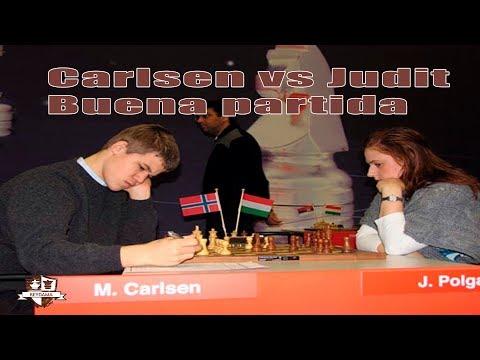 Magnus Carlsen vs Judit Polgar Partida Blitz
