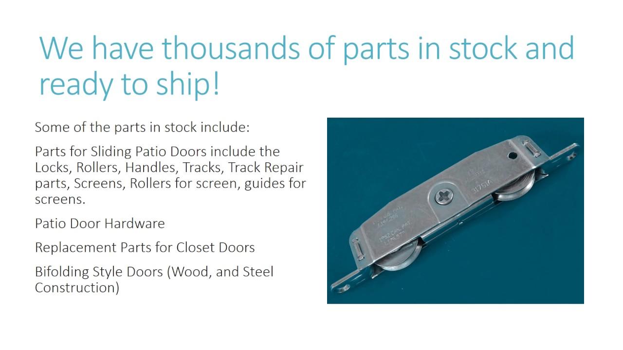 Stanley Patio Door Parts