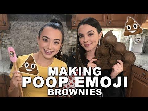 Making Poop Emoji Brownies - Merrell Twins Live