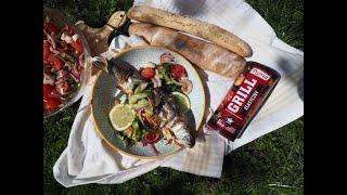 Co na obiad: Pstrąg z grilla i sałatka z cukinii