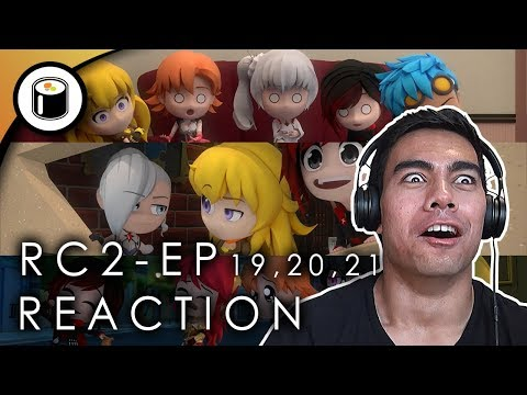 RWBY Chibi Season 2 - Episode 19,20,21 Reaction: Tomboy, Escape room, and Trash