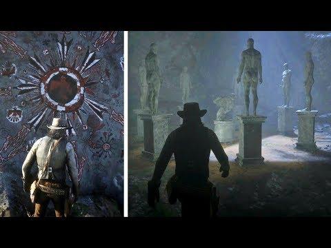 حل لغز التماثيل السبعة السرية في لعبة ريد ديد ريدمبشن 2   RDR2 Statues Mystery