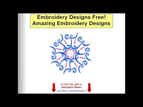 Embroidery Designs Free - Free Embroidery Patterns - YouTube