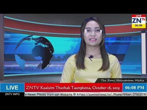 ZNTV Kaalsim Thuthak  Taangkona, # 44, October 18, 2019 (Friday)