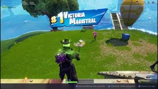 Victory with the new skin of hallowen'Deadly Shot Fortnite