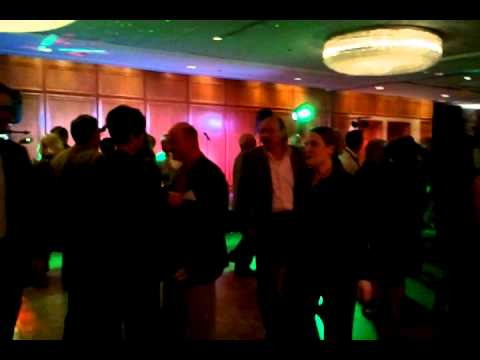 Commodity brokers drunk and dancing.