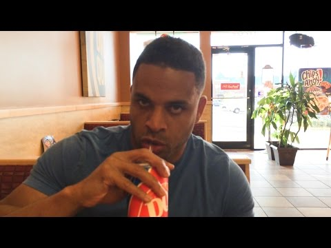 Hodgetwins are Hungry Again We at Dairy Queen eating Hot Dogs & French Fries @hodgetwins