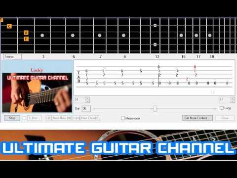 Guitar Solo Tab Lucky Jason Mraz Youtube