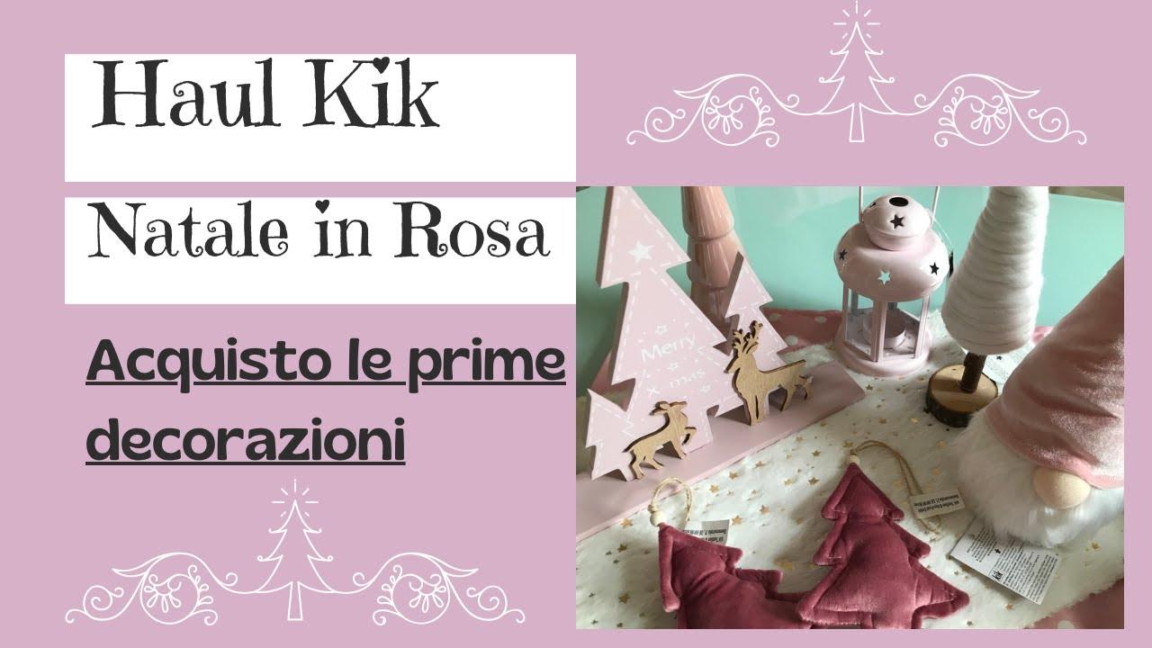 Acquisto Decorazioni Natalizie.Haul Kik Acquisti Prime Decorazioni Di Natale In Rosa E Non Solo Youtube