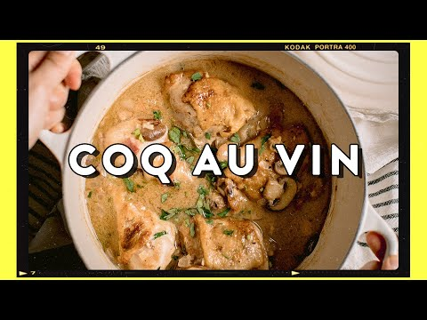 Comfort French Chicken Stew with White Wine – Simple Coq Au Vin Recipe | HONEYSUCKLE
