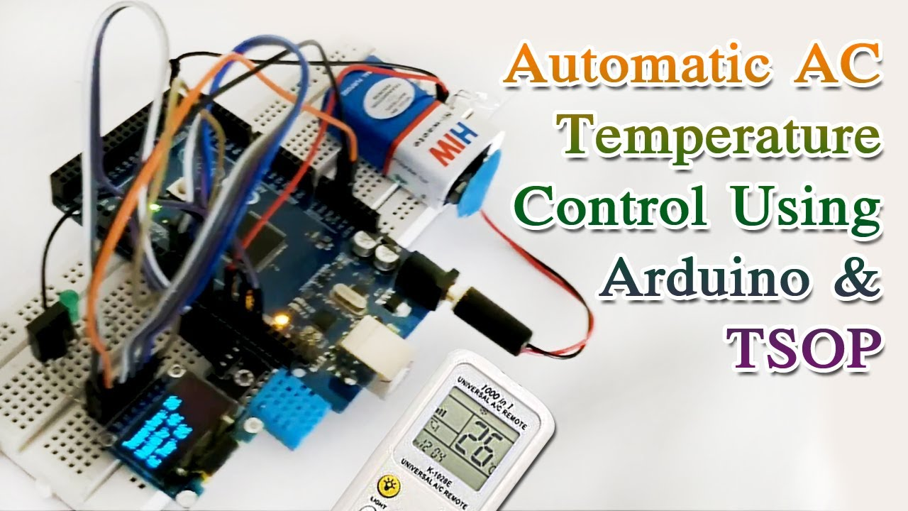 Automatic AC Temperature Controller using Arduino, DHT11 and