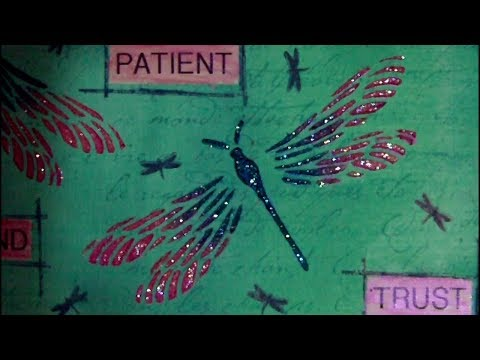 6 x 6 Mixed Media Challenge - Dragonflies - #ArtfulEvidence