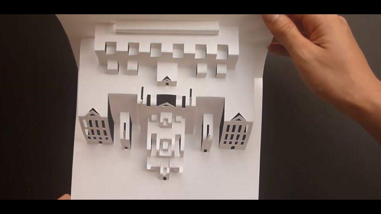 pop up art gallery card tutorial origamic architecture youtube. Black Bedroom Furniture Sets. Home Design Ideas