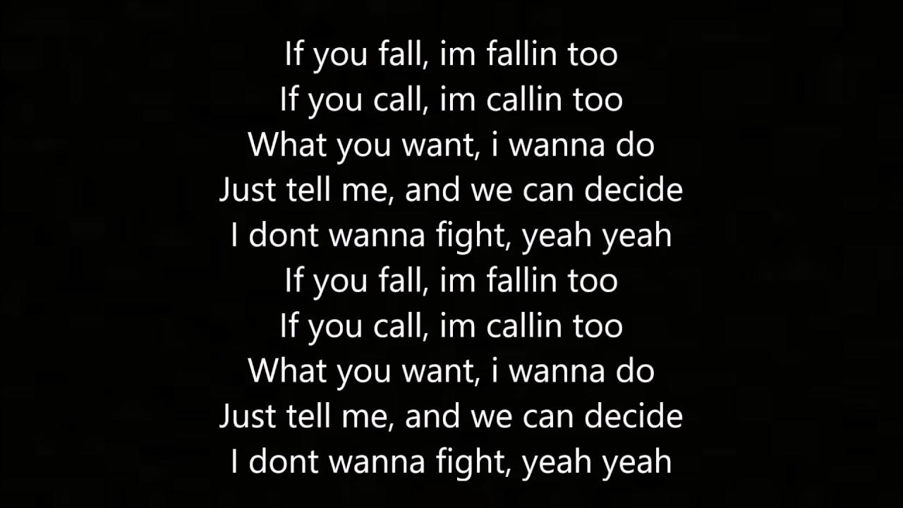Fallin out lyrics