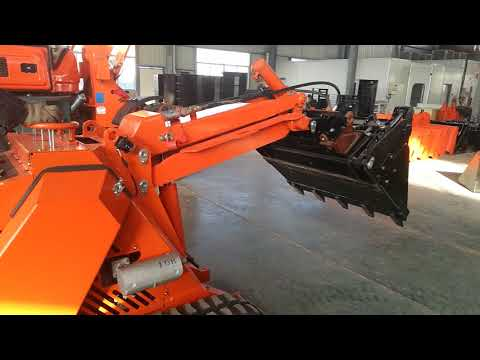 Simple operating  for MS500 mini skid steer loader with 4 in 1 bucket