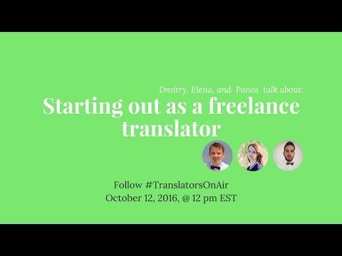 #TranslatorsOnAir Starting out as a translator feat  @Panagiotis C