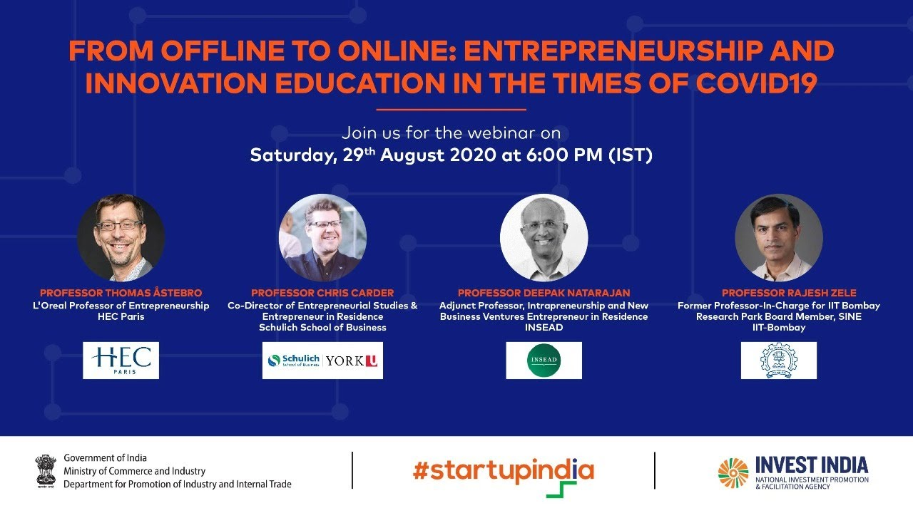 From Offline To Online Entrepreneurship And Innovation Education In The Times Of Covid19 Youtube