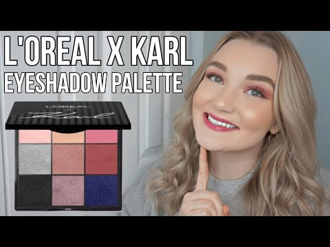 L'Oreal X Karl Lagerfeld Eyeshadow Palette - Review & Swatches