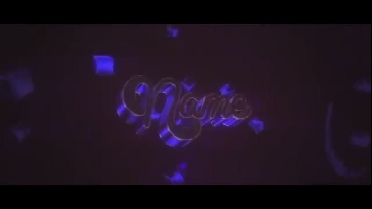 cool purple flashy intro template with full tutorial youtube
