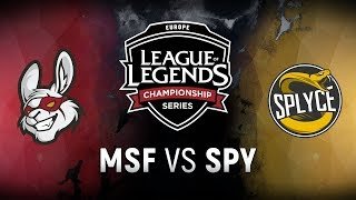 MSF vs. SPY  - Week 3 Day 2 | EU LCS Spring Split |  Misfits Gaming vs. Splyce (2018)