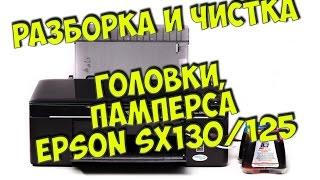 Как разобрать Epson SX130/125/121 - Чистка головки и памперса(Разбираю принтер Epson SX130 и чищу головку и памперс. Лопатка, которая помогает вскрывать ноуты и не только:..., 2016-08-21T16:39:29.000Z)