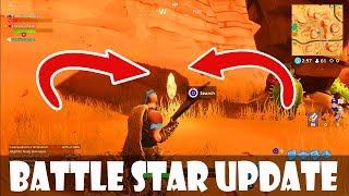 SEARCH BETWEEN AN OASIS, A ROCK ARCHWAY & DINOSAURS | BATTLE STAR WEEK 2 CHALLENGE UPDATE LOCATION